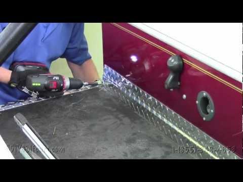 Club Car Diamond Plate Kick Panel How To Install Video