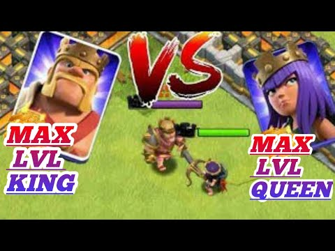 WHO WILL WIN ? Max level Barbarian king vs max level Archer queen EPIC BATTLE | Clash of clans |