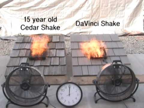 Cedar Shake Shingles Fire Test Youtube