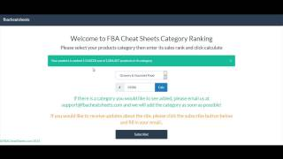 AWESOME Amazon FBA Rank Software FBA Tool Cheat Sheets
