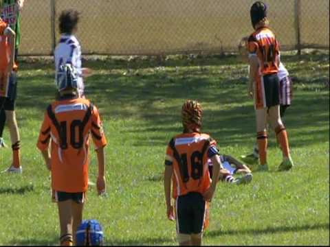 Jack runs 95 metres - Gold Coast Junior Rugby League C2/C3 U11 2009 Grand Final Southport Tigers v Burleigh Bears.