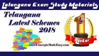 Telangana State Government Latest Schemes 2018 - TSPSC Exam Study Material