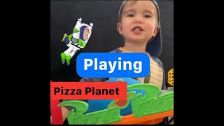 Play Toy Story with Parker! Pizza Planet playset