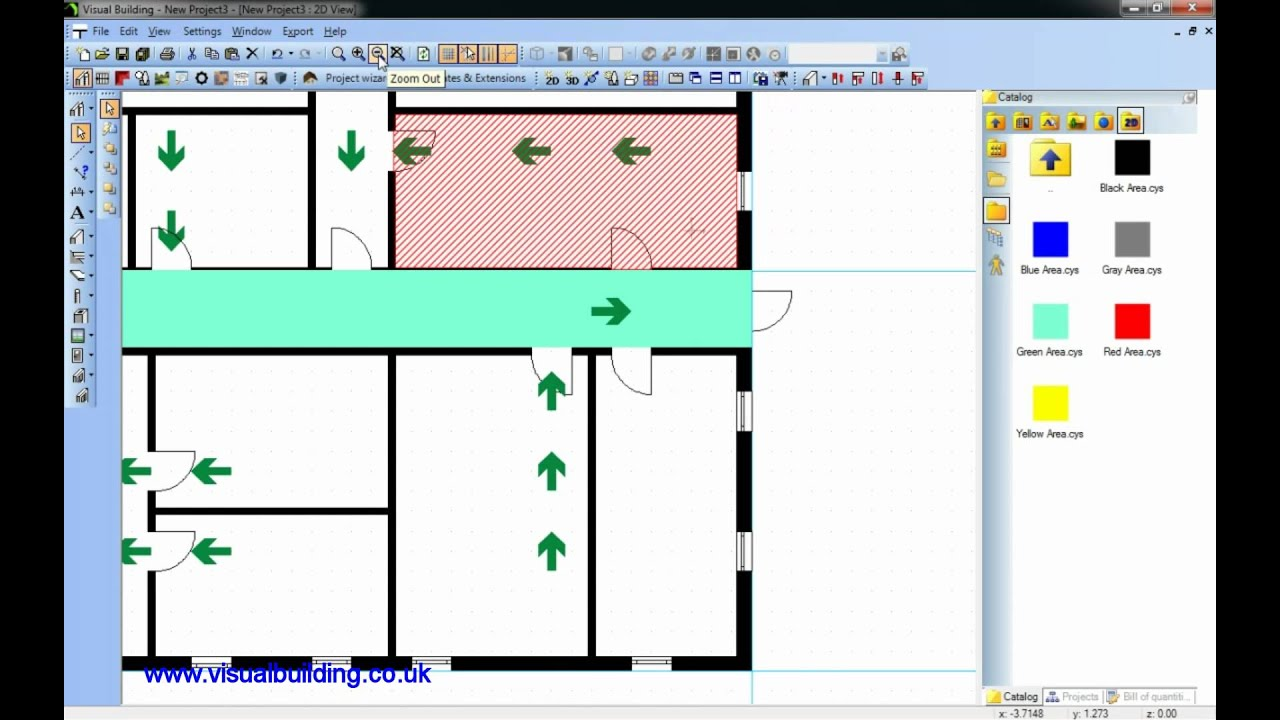 Visual building tutorial creating a fire escape plan youtube Building layout maker