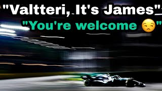 Valtteri Bottas receiving team orders from James AGAIN?!