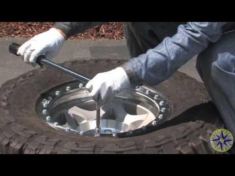 How To Mount Tires On Beadlock Wheels - YouTube