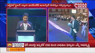 IT Minister KTR Excellently Addresses Inaugural Session of 22nd World Congress IT