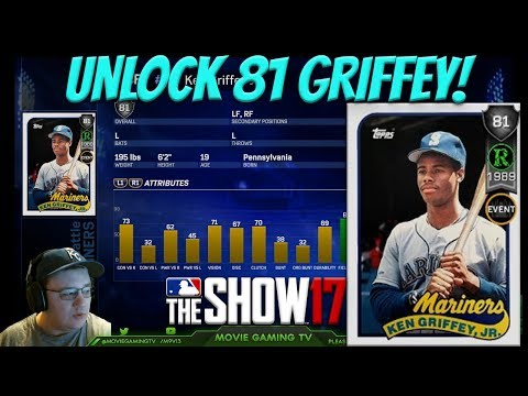 How To Unlock 81 Ovr Rookie Griffey! MLB The Show 17 Diamond Dynasty