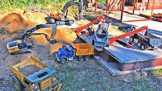 BRUDER trucks RC QUARRY EXCAVATOR Volvo earth digger SCREENING PLANT Long Play