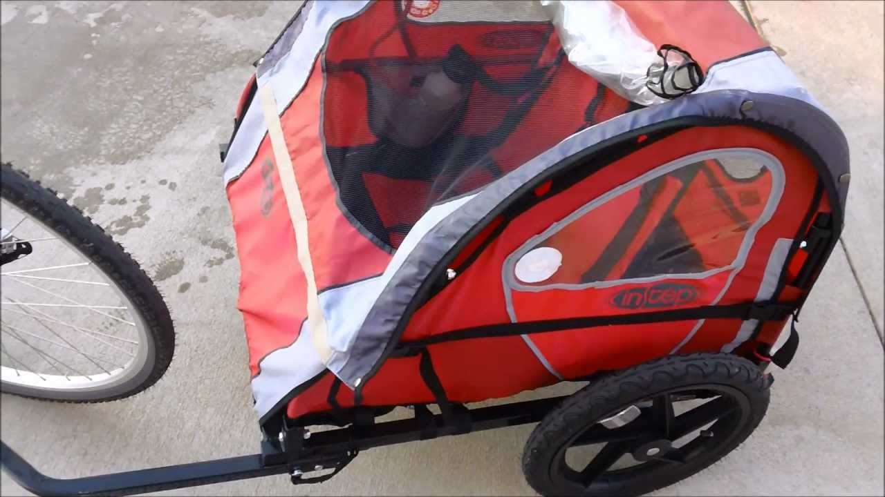 InStep Pronto child carrying trailer review - YouTube