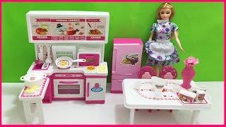 Nhà bếp búp bê có tủ lạnh, tủ bếp, bàn ghế SHOPKINS 30 món dụng cụ nấu ăn dễ thương (Chim Xinh)