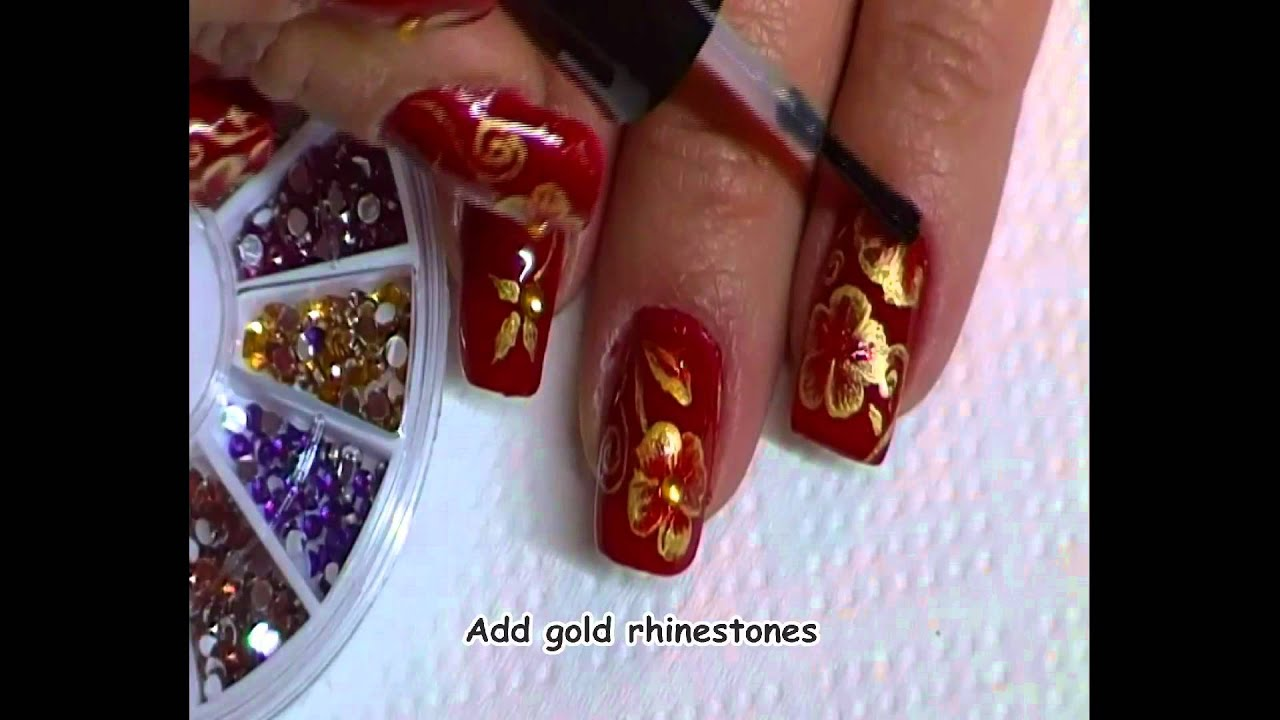 Holiday Nail Art Red And
