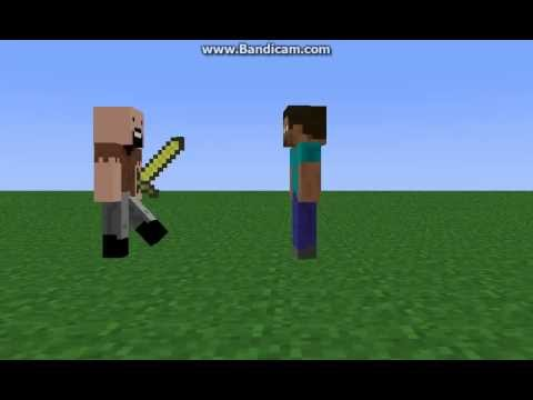 Notch Kills Herobrine-Minecraft Machinima
