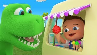 Little Baby Fun Play Learning Colors for Children with Dinosaur eat Color Ice Creams for Kids 3D Edu