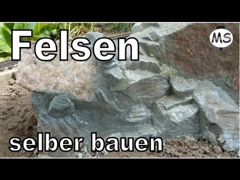Modellbau Garten Gestaltung - Felsen Mauer Selber Bauen