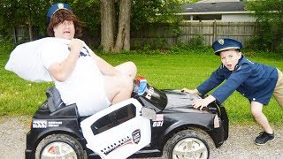 The Stolen Getaway Car Thief! Pretend Play Hilarious Kid Police Chase Skits For Kids