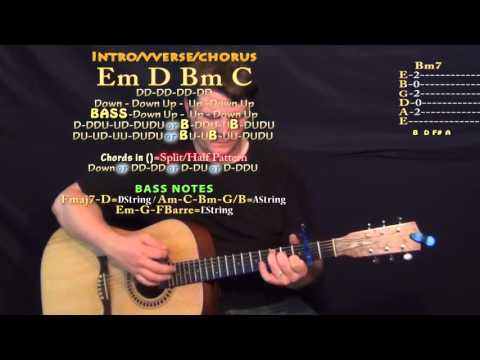 i  hate u, i love u  (gnash) Guitar Lesson Chord Chart - Capo 2nd - Em D Bm C
