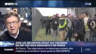 Licenciement Air France - Mélenchon CENSURÉ - BFMTV