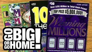 WINS!! $50 Winning Millions, 100X The Cash + MORE! ✦ TEXAS LOTTERY Scratch Off Tickets