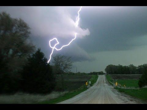 MOTHERS DAY GREEN TORNADO - 1.3 Mile Wide EF3, Supercell & Lightning Barrage!
