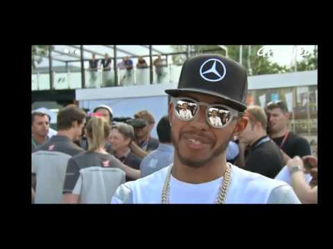 Australian GP 2016. Nico Rosberg, Lewis Hamilton and Sebastian Vettel interviews