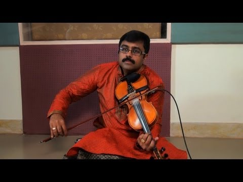 Violin performance by A. Jayadevan