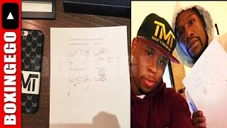 "(WOW!!!) CONOR MCGREGOR SIGNS ""HISTORIC CONTRACT"" TO FACE FLOYD MAYWEATHER; FLOYD AGREEMENT NEEDED"