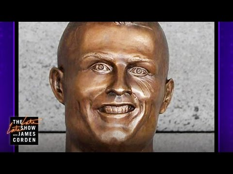 ◆悲報◆クリロナの銅像、米CBS『The Late Late Show』でネタにされ映るたびに大爆笑の渦に!