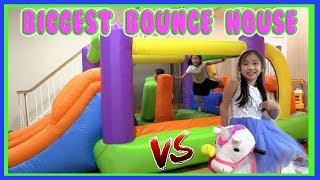Pretend Play Mcdonalds Drive Thru with Ryan's Toy Review inspired ( Biggest Bounce House Challenge )