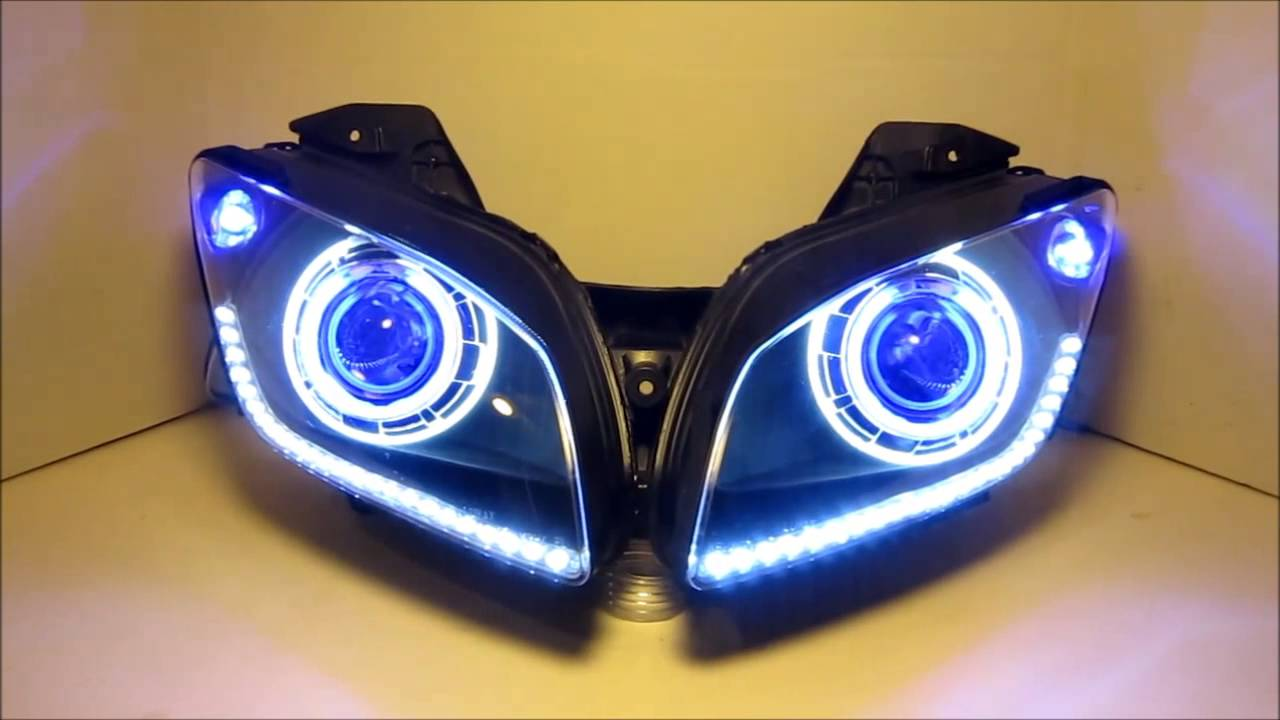 R15 V2 Modified With Projector Lights 2008-2013 Yamaha R15 HID