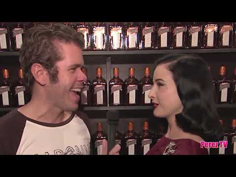 Dita Von Teese interviewed by Perez Hilton