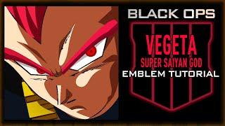 VEGETA Super Saiyan God SSG Black Ops 4 Emblem Tutorial