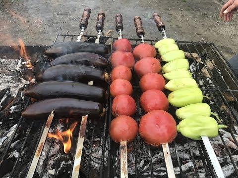 Как сделать овощи на гриле на костре 670
