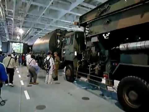 JMSDF LST-4001輸送艦おおすみ見学ツアー - YouTube