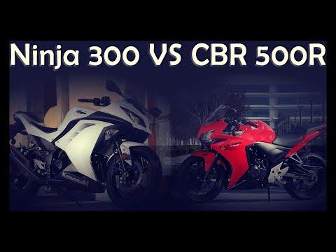 Ninja 300 vs CBR500R - Quem leva?
