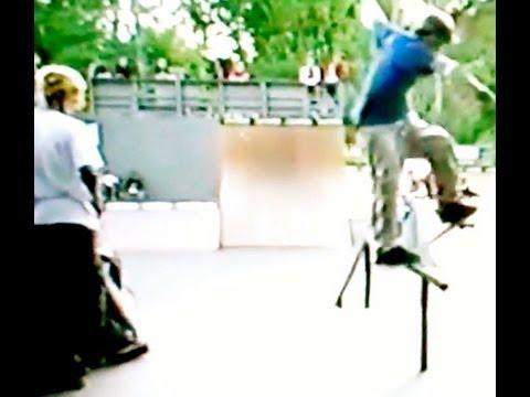Dan MacFarlane 2002 skateboarding at Lake Owen Woodward Skate Camp