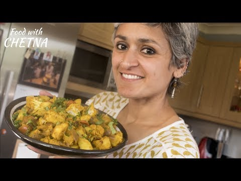 Simple and delicious 'Aloo gobhi' - potato and cauliflower sabji!