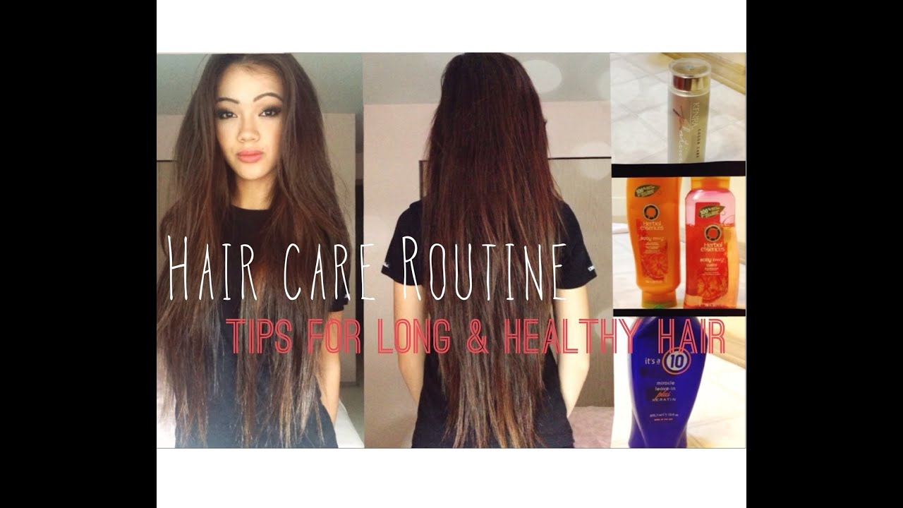 Hair Care Routine Tips For Growing Long And Healthy Hair