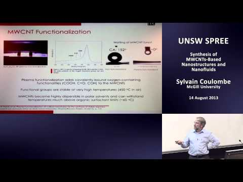 UNSW SPREE 201308-14 Sylvain Coulombe - Synthesis of MWCNTs Based Nanostructures and Nanofluids