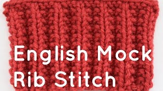 How to Knit the English Mock Rib Stitch