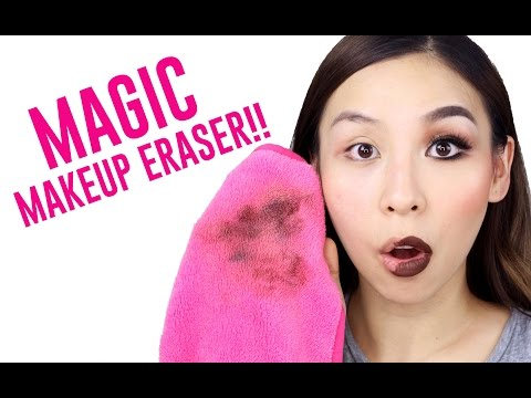 MAGIC CLOTH ERASES MAKEUP WITH JUST WATER!!  TINA TRIES IT - YouTube