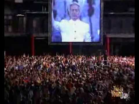 Benny Hinn sings at the Coca-Cola Dome