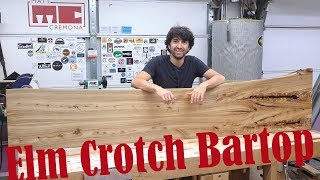 Bookmatched Elm Crotch Bartop