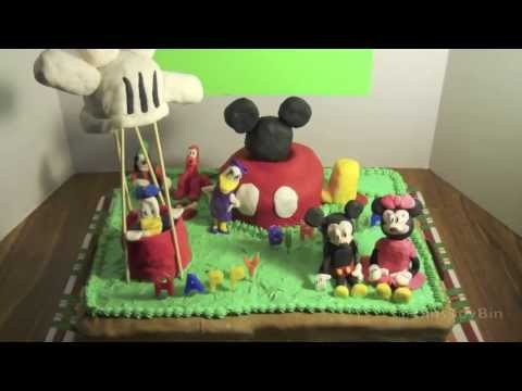 Disney Summer #3: MICKEY MOUSE CLUBHOUSE Custom Birthday Cake! Made by Bin