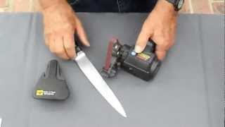 Kitchen Knife Sharpening using the Work Sharp Knife Sharpener