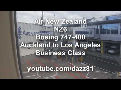 Air New Zealand Boeing 747-400 Auckland to Los Angeles - Business Class