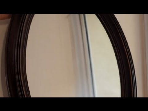 how to hang a heavy mirror on a thick wall how to repair. Black Bedroom Furniture Sets. Home Design Ideas