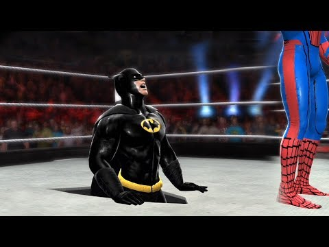 SPIDERMAN VS BATMAN - Hell In A Cell Match