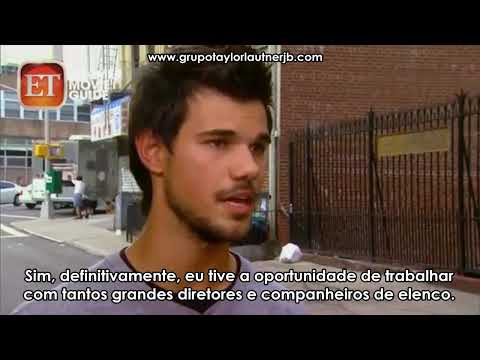 [LEGENDADO] Taylor Lautner concede Entrevista ao site ET nos bastidores de TRACERS!