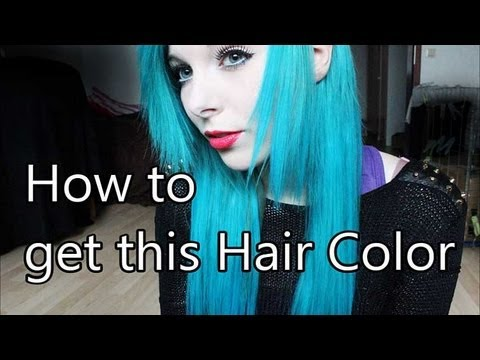 Ira Vampira | How to get this Hair Color ( light turquoise blue / pastel blau türkis )